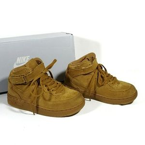 Nike Force 1 Suede Lace-Up High-Top